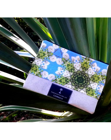 Pochette motif Roses blanches