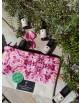 Pochette motif Roses de Damas